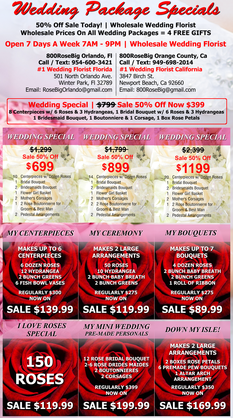 Mix Match Special Order Any 3 Wedding Flower Packages Get Free Toss Bouquet Box Of Rose Petals