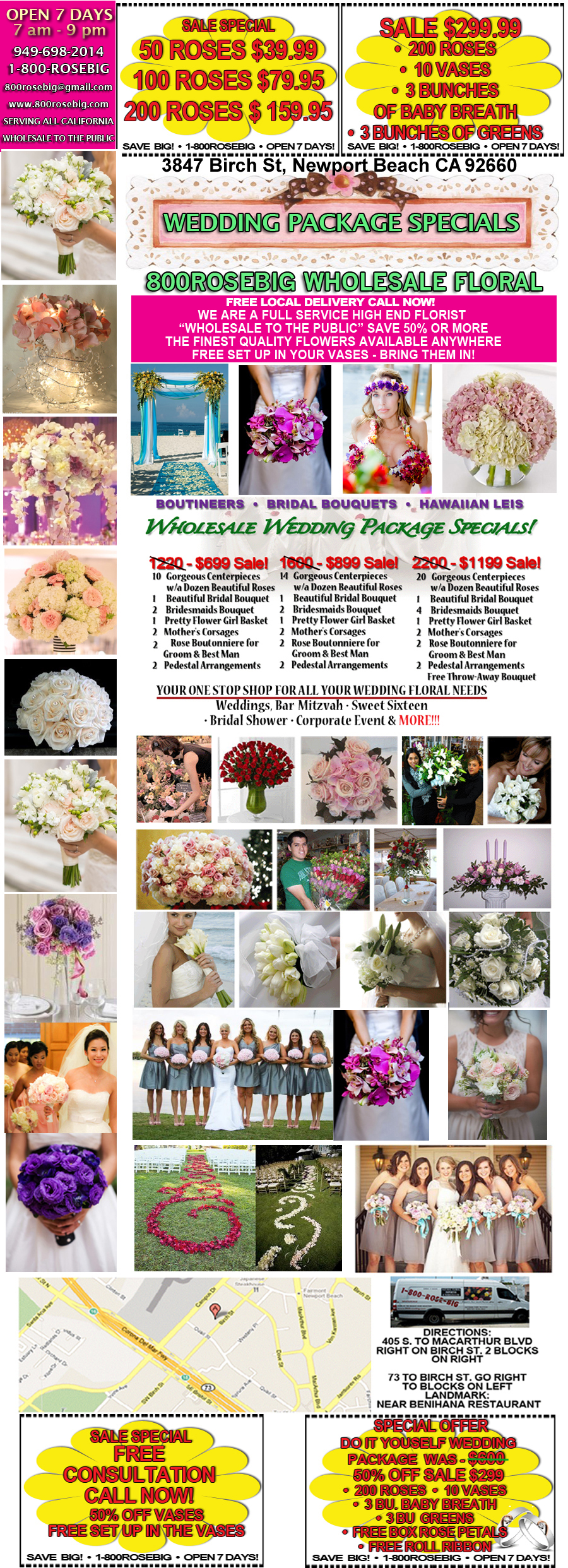 wholesale wedding packages orange county