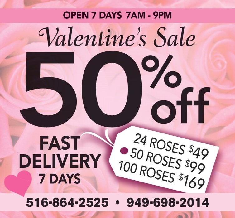 oc valentines day flower delivery cheap