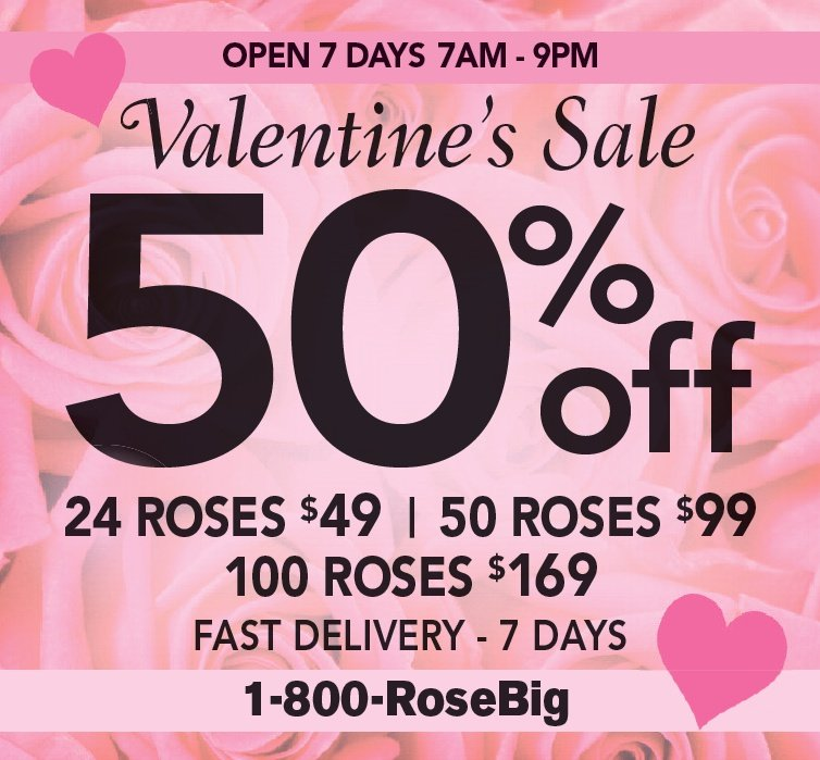 oc valentines day flower packages cheap